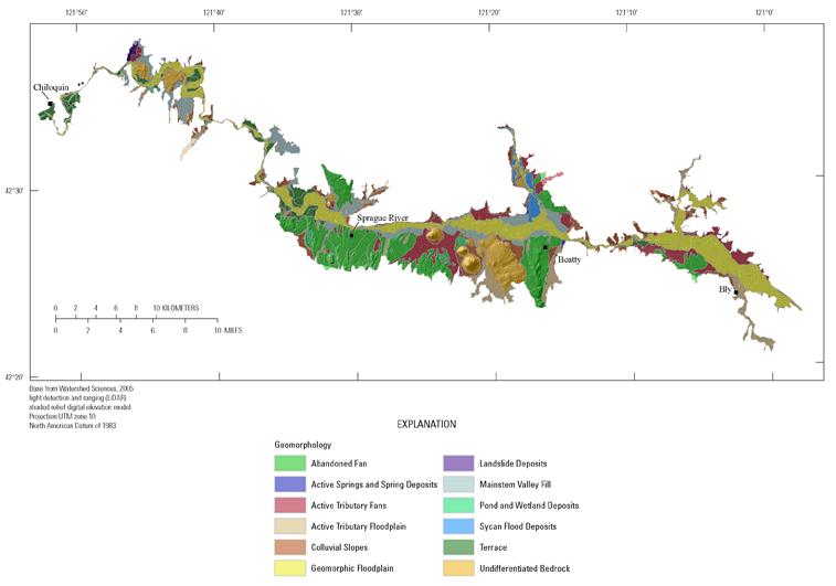 Sprague River Oregon Geomorphology