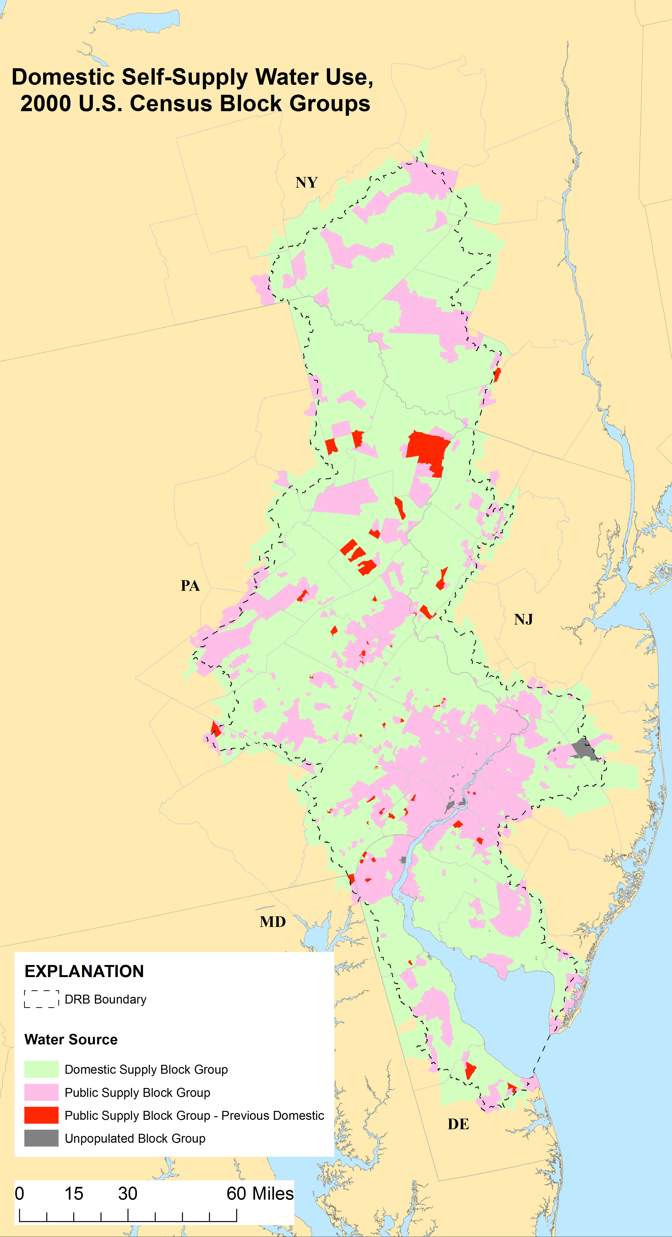 Estimating Domestic Self-Supply Water Use for the Delaware River ...