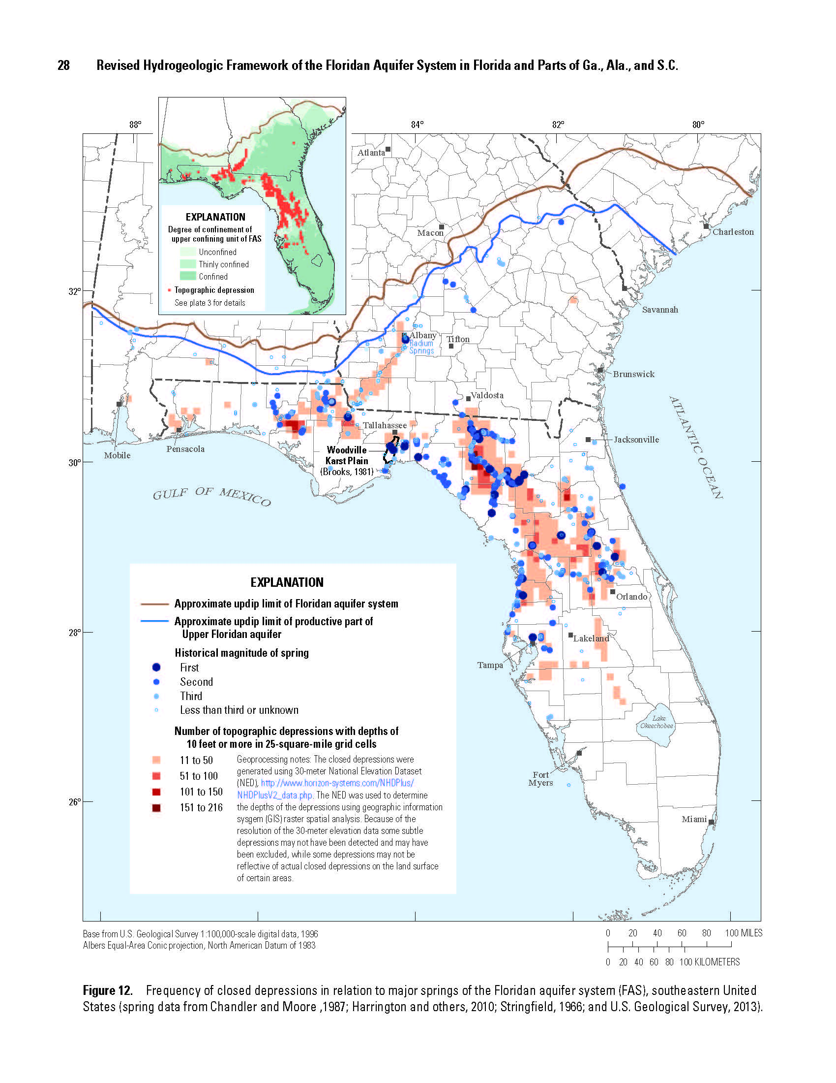 Of Selected Hydrogeologic Units Of The Floridan Aquifer System In - Us karst map usgs