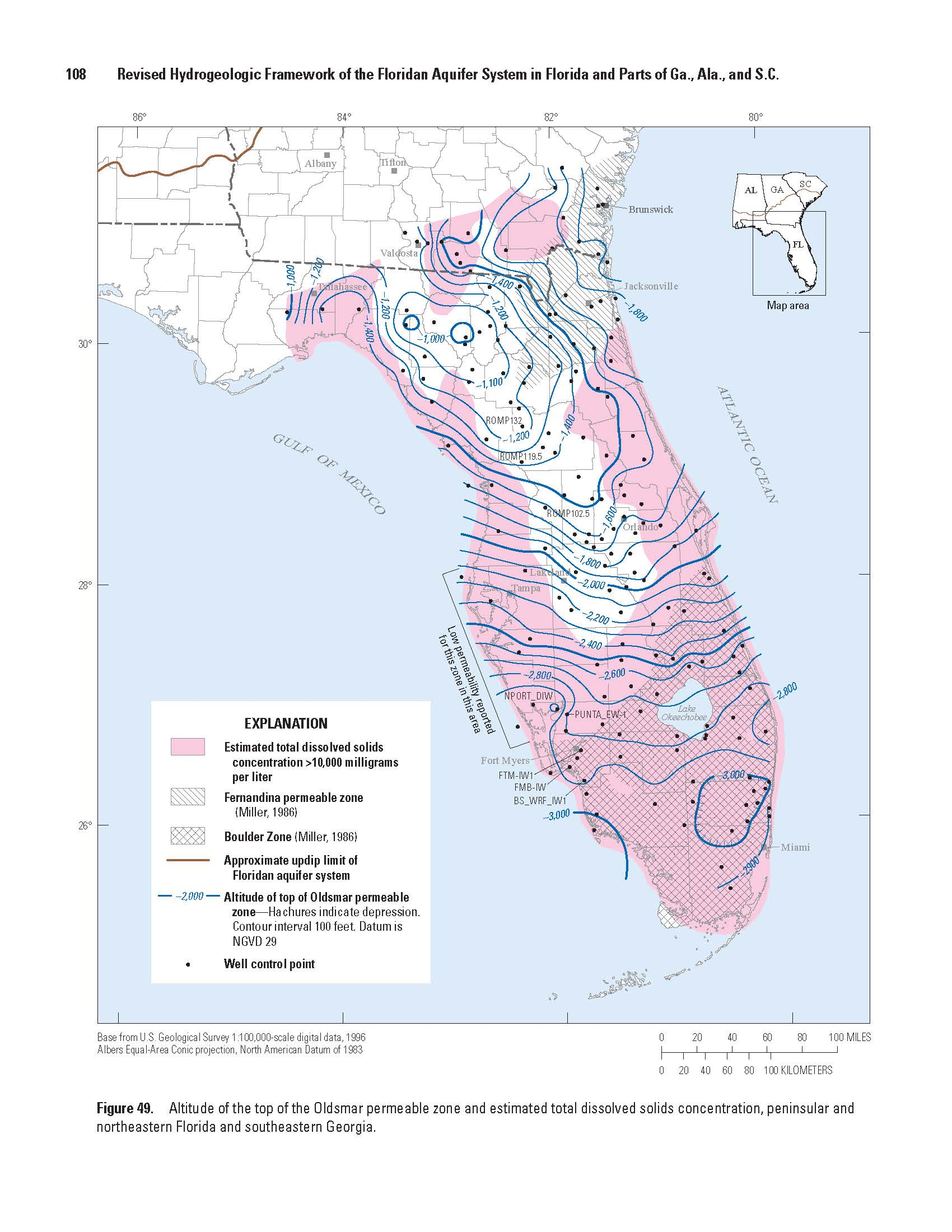 Oldsmar permeable zone
