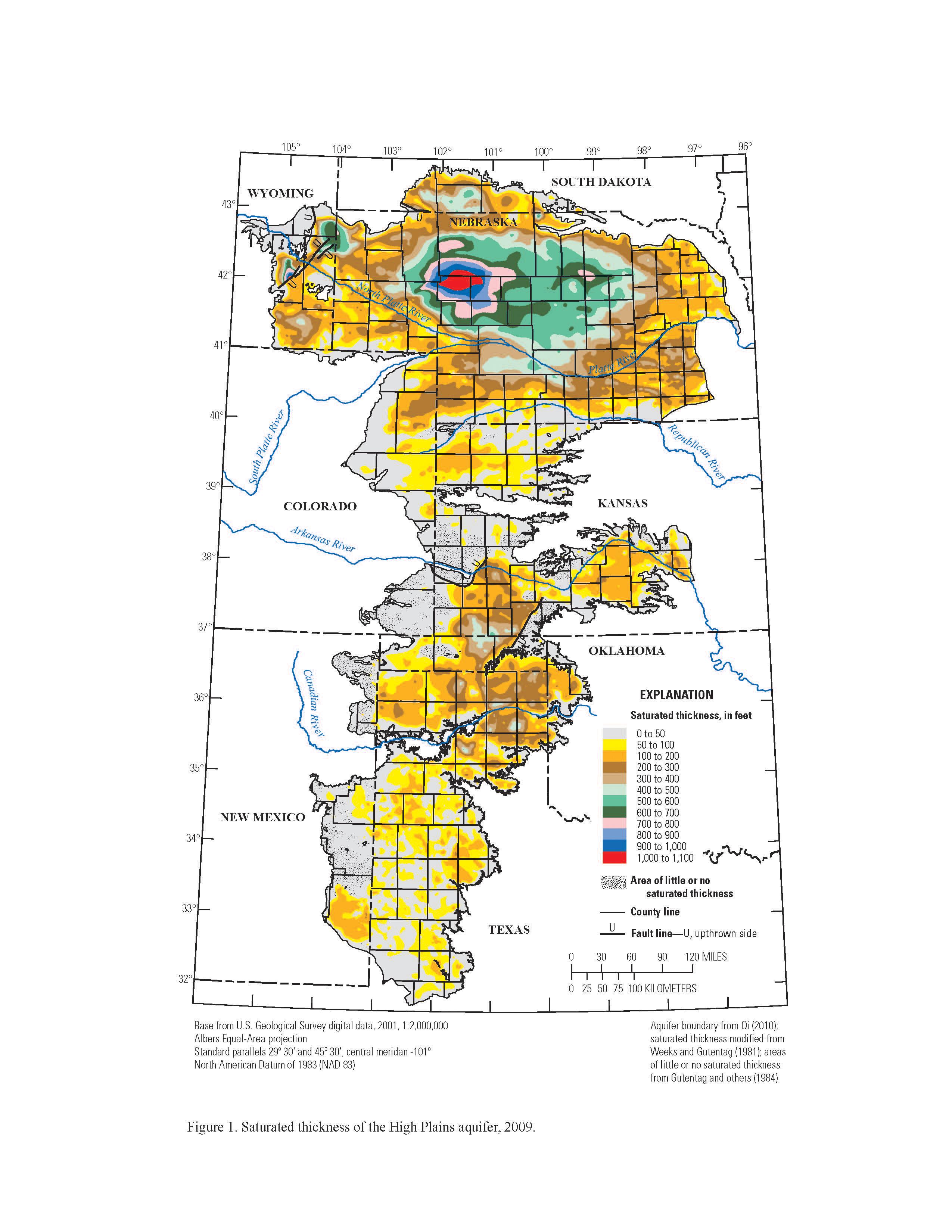 Saturated thickness, High Plains aquifer, 2009 - Data.gov