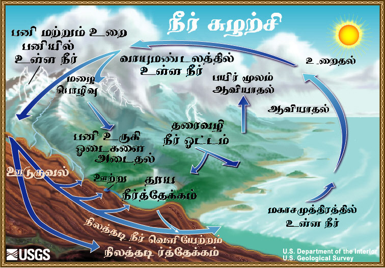 The water cycle tamil from usgs water science school diagram of the water cycle ccuart Images