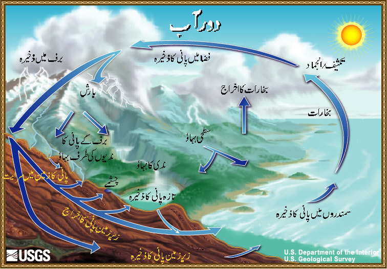 The Water Cycle Urdu from USGS Water Science School