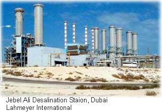 The Jebel Ali desalination plant in Dubai, courtesy of Lahmeyer International.