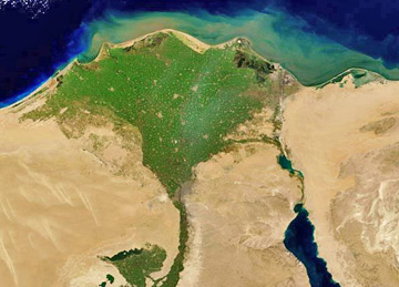 Freshwater the water cycle from usgs water science school nasa satellite photo of the nile river valley in egypt showing how vegetation thrives where ccuart Choice Image