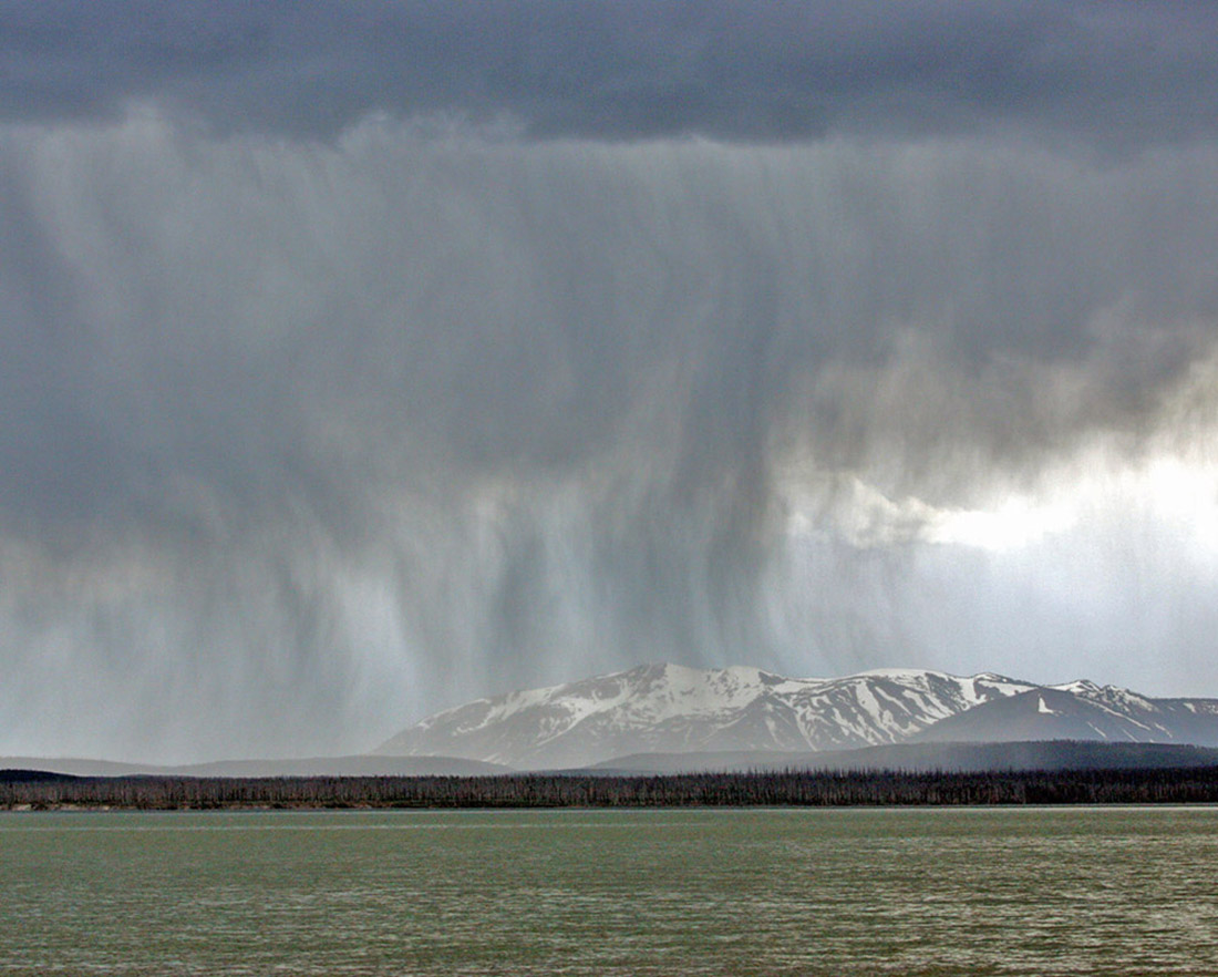 Picture of Thundershowers over Yellowstone Lake, Montana, USA
