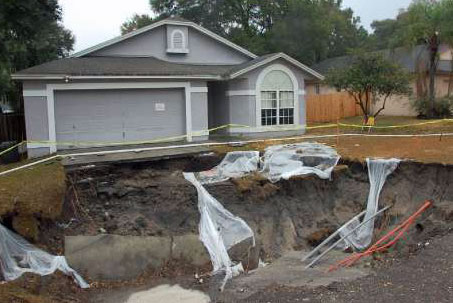 Image result for sinkhole house
