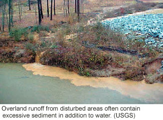 Surface runoff the water cycle from usgs water science school picture showing sediment filled runoff from a road running into a creek during a rainstorm ccuart Image collections