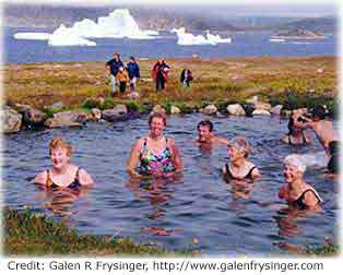 The water cycle summary usgs water science school photo of bathers in a natural warm spring in greenland ccuart Image collections