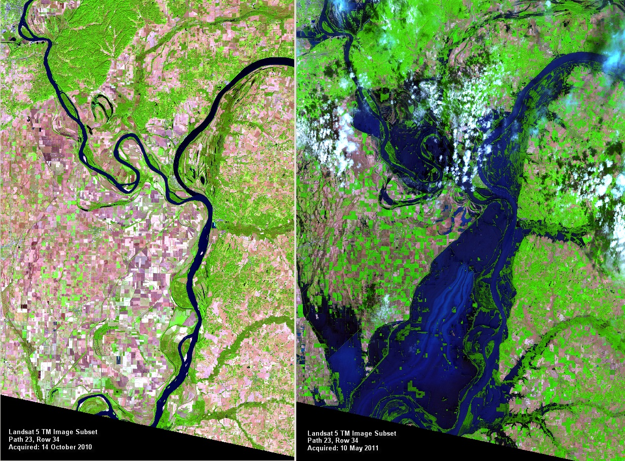 the shocking doomsday maps of the usgs landsat images of ohiomississippi river confluence