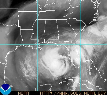 Satellite Image: Tropical Storm Isaac.  Image courtesy of NOAA.