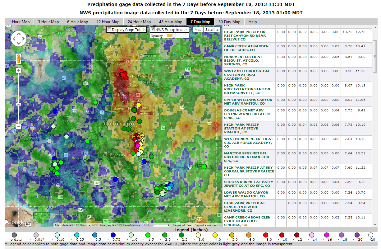 USGS Flood Events - Flood line map