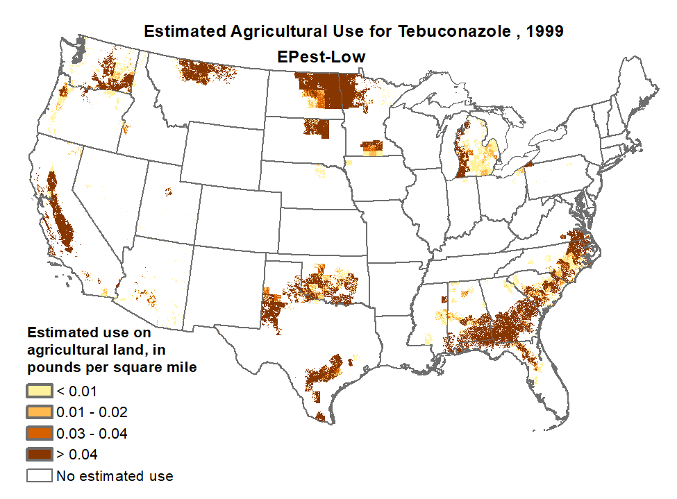 1999 Pesticide Use Maps -