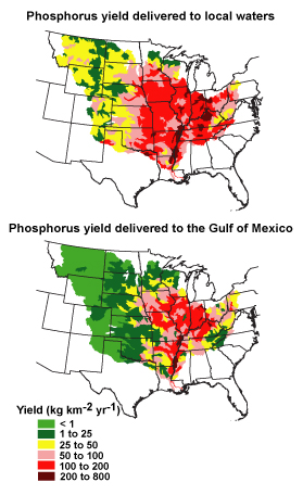 Phosphorus Yield In The Mississippi River Basin