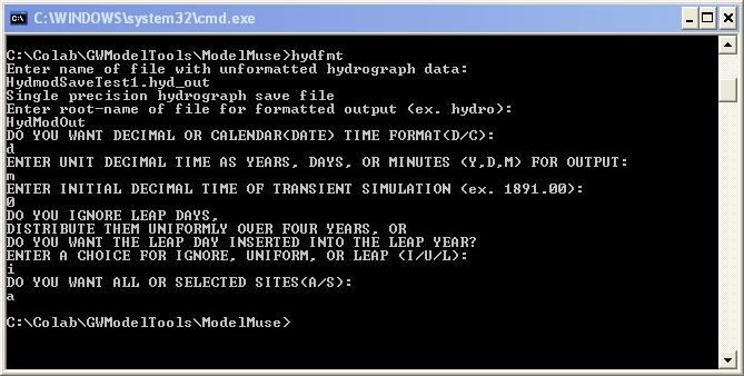 HYD: HYDMOD Package