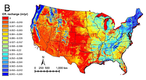 USGS Groundwater News And Highlights October - Us average groundwater level map